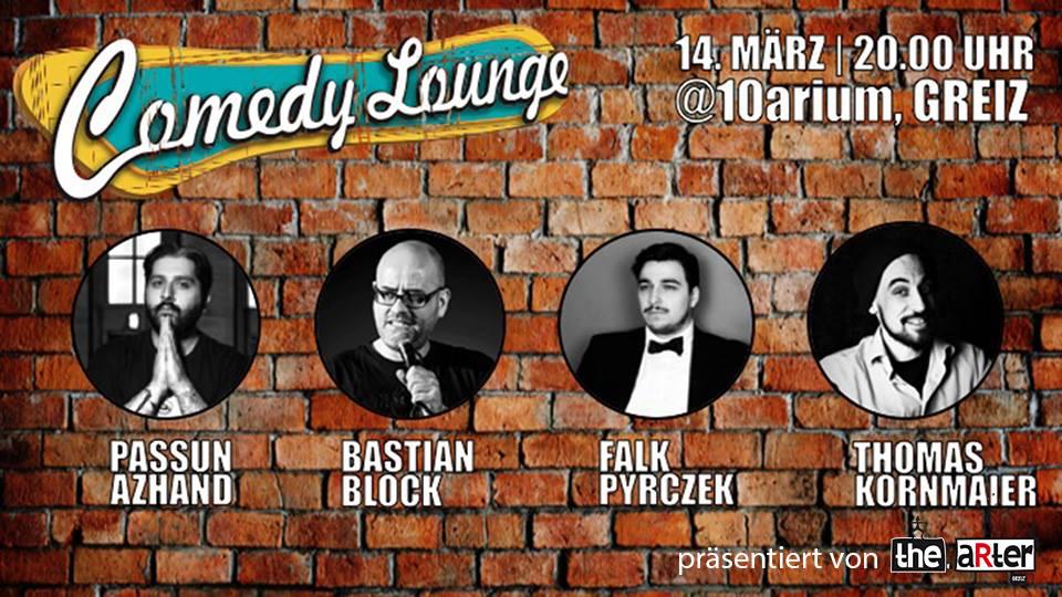 Comedy Lounge Maerz 2019 im 10aRium Greiz
